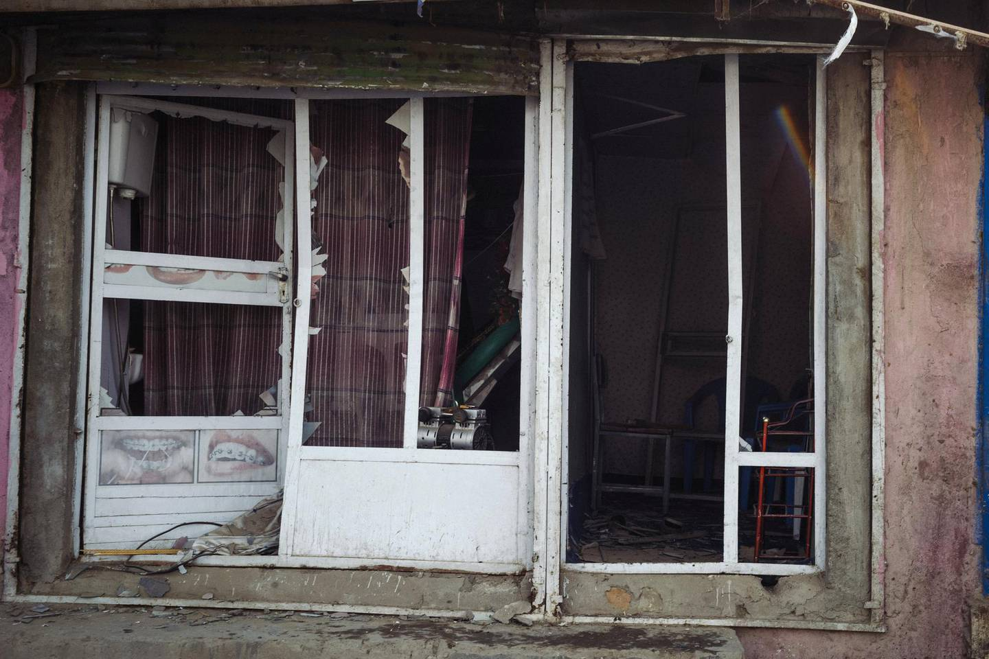 January 15th, 2019 - Kabul, Kabul, Afghanistan: A shop damaged by the explosion that targetted a foreigner compound in the Qabil Bai district of Kabul.The attack on the Green Village, a compound in Kabul that houses foreign workers and NGO's, initially killed 9 and wounded over 120 Afghans who lived in the vicinity. There was also extensive property damage to the surrounding homes and shops. Ivan Flores/The National