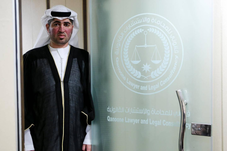 Abu Dhabi, United Arab Emirates, February 23, 2016:    Emirati lawyer Ali Al Mansoori at his office in the Khalidiya area of Abu Dhabi on February 23, 2016. Christopher Pike / The National  Job ID: 21986 Reporter:  N/A Section: News Keywords:  *** Local Caption ***  CP0223-na-Lawyer-06.JPG
