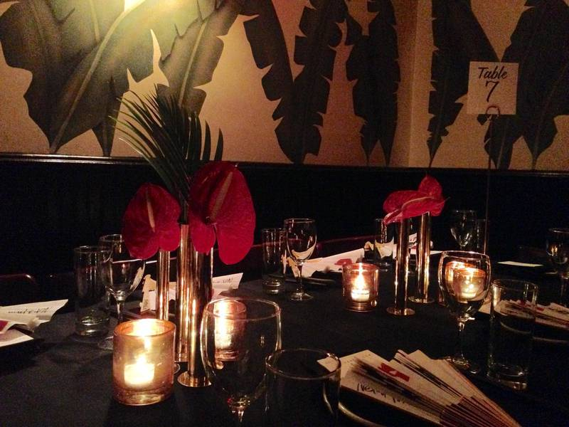 Handout of The beautiful table setting at Indochine, where Net-a-porter held a dinner to celebrate Sarah Ruston's appointment. Courtesy of Nadia El-Dasher *** Local Caption ***  BLOG20fe-NYFW-Moments01.jpg