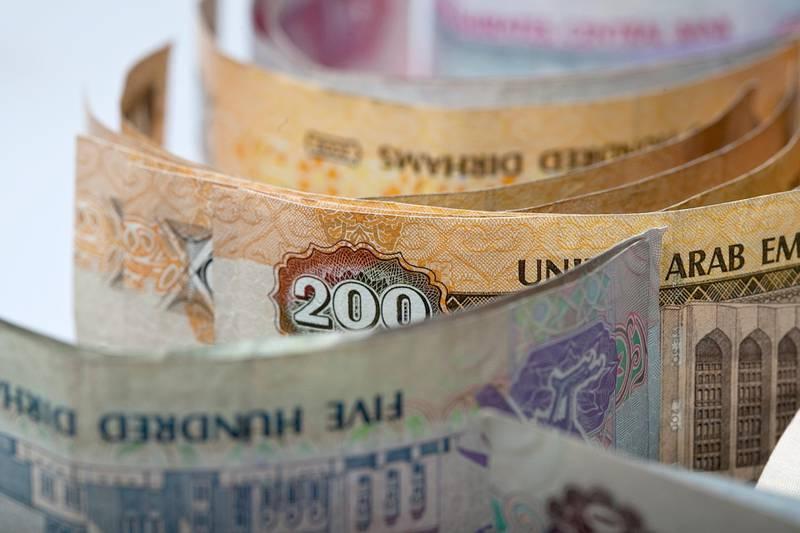 Abu Dhabi, United Arab Emirates, July 31, 2012:   UAE dirhams. (Silvia Razgova / The National)