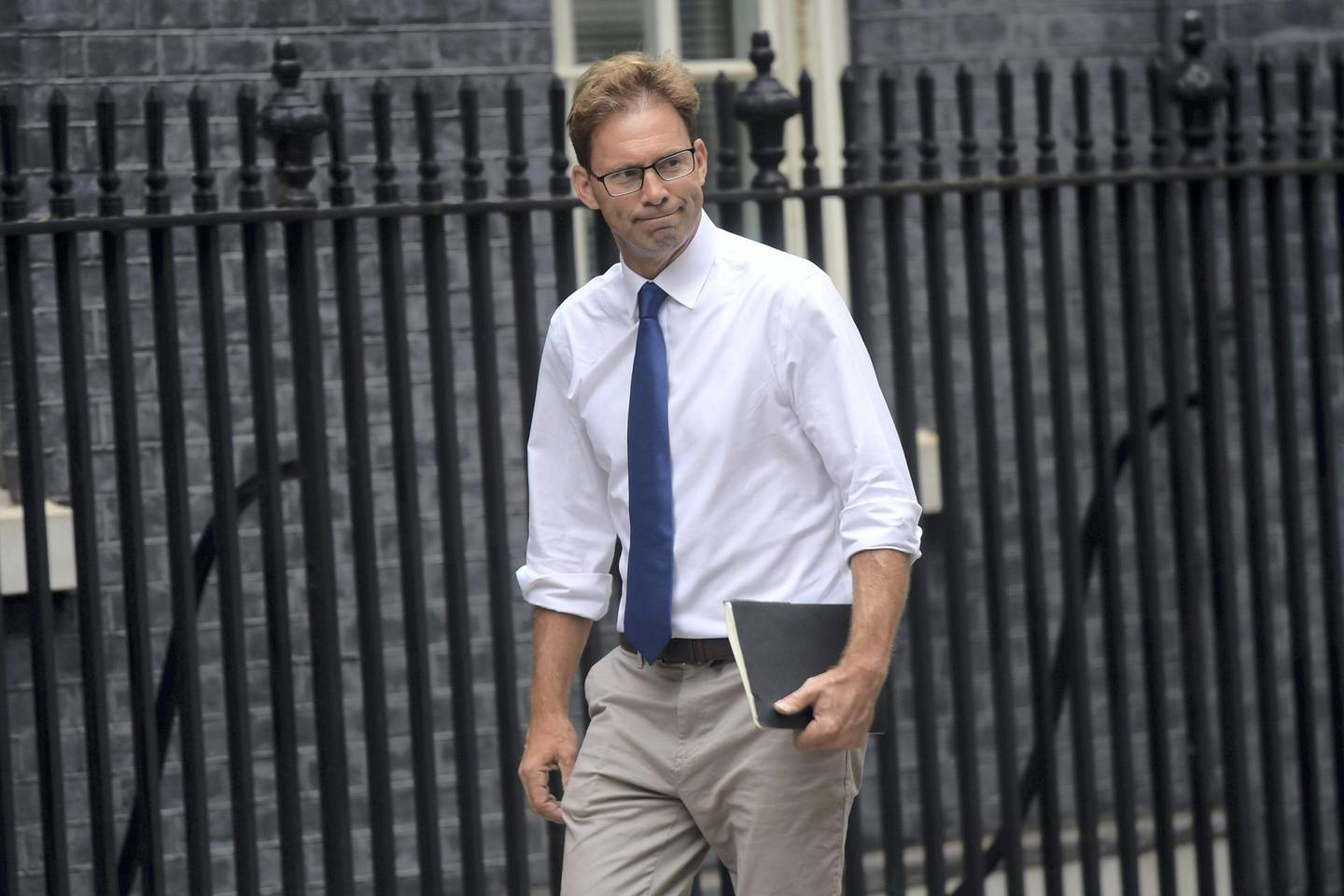 LONDON, ENGLAND - AUGUST 28: Conservative politician Tobias Ellwood arrives at Downing Street on August 28, 2019 in London, United Kingdom. British Prime Minister Boris Johnson has written to Cabinet colleagues telling them that his government has requested the Queen suspend parliament for longer than the usual conference season. Parliament will return for a new session with a Queen's Speech on 14 October 2019. Some Remain supporting MPs believe this move to be a ploy to hinder legislation preventing a No Deal Brexit. (Photo by Peter Summers/Getty Images)