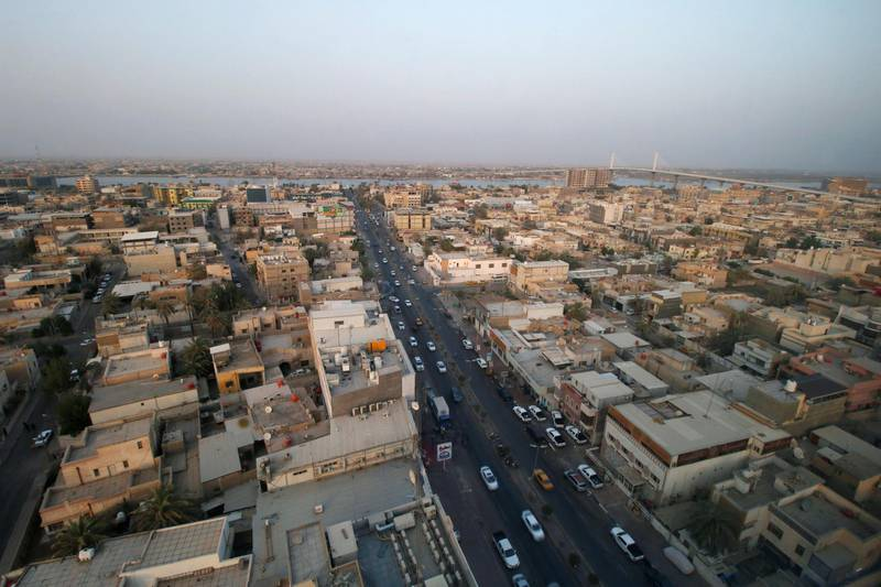A general a view of the city after a week of violent protests in Basra, Iraq September 9, 2018. REUTERS/Essam al-Sudani