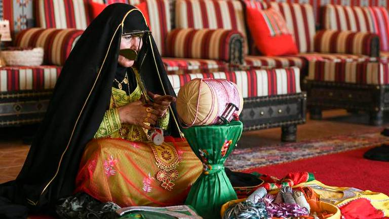 An image that illustrates this article The Emirati women keeping traditional handicrafts alive