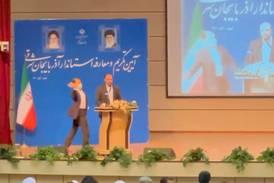Iranian governor slapped during inauguration ceremony