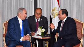 Egypt's Sisi meets Israel PM at UN for first public talks