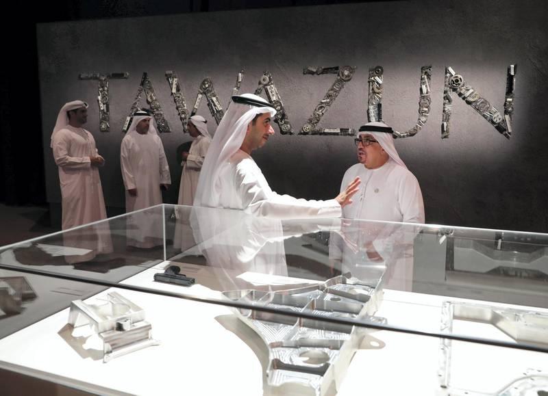 Abu Dhabi, United Arab Emirates - October 31st, 2017: Tawazun Economic Council celebrating its silver jubilee. Tuesday, October 31st, 2017 at Abu Dhabi National Exhibition centre, Abu Dhabi. Chris Whiteoak / The National