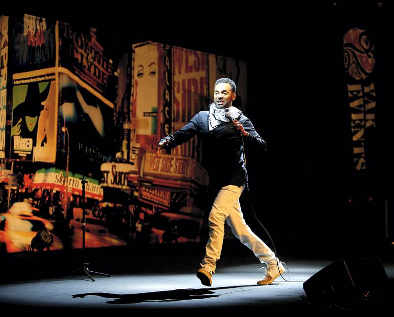 AbuDhabi, 18, August, 2017:  Mike Epps performs during the Live Stand-up Comedy show at the Al Raha Beach Theatre  in Abu Dhabi. ( Satish Kumar /  For The National )  Story by Saeed Saeed