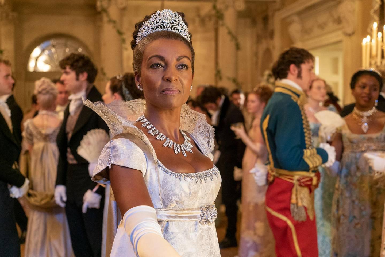 BRIDGERTON ADJOA ANDOH as LADY DANBURY in episode 101 of BRIDGERTON Cr. LIAM DANIEL/NETFLIX © 2020