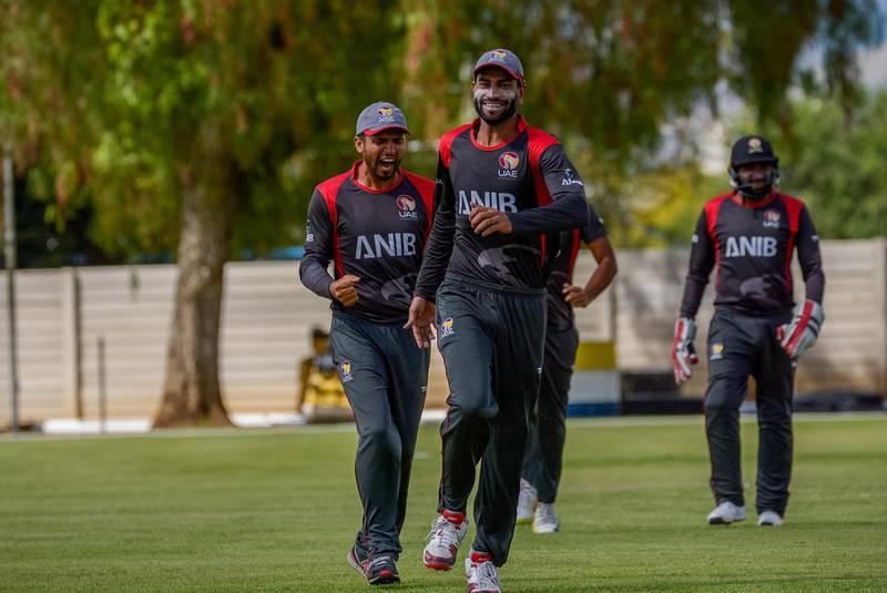 ICC World Cricket League. Division 2 - Namibia 2018. UAE v Oman. Photo by Johan Jooste
