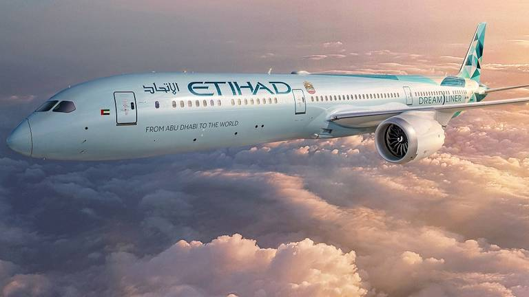 An image that illustrates this article Etihad Airways raises $1.2bn in aviation's first sustainability-linked ESG loan