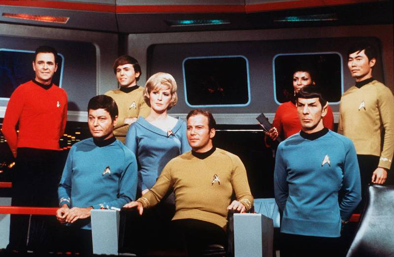 On the set of the TV series Star Trek (Photo by Sunset Boulevard/Corbis via Getty Images)
