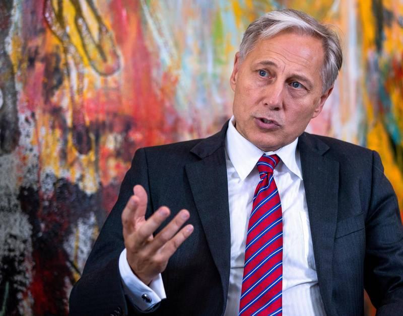 Abu Dhabi, U.A.E., September 3, 2018. Interview with the Danish Ambassador Franz-Michael Skjold Mellbin.Victor Besa / The NationalSection:  NAReporter:  John Dennehy