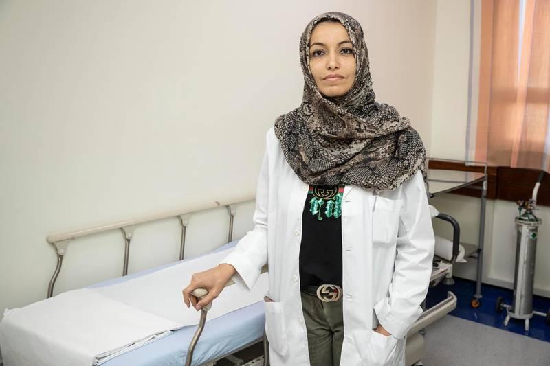 DUBAI, UNITED ARAB EMIRATES. 21 JANUARY 2020.  Dr Zainab Fathi Elsayed, specialist registrar at Rashed Hospital. (Photo: Antonie Robertson/The National) Journalist: Nick Webster. Section: National.