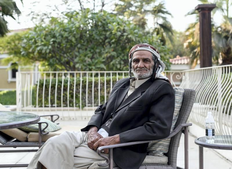 Abu Dhabi, United Arab Emirates - Grandfather Sulaiman Chabib, 75 Yemeni Jewish family reunited after several years in Abu Dhabi. Khushnum Bhandari for The National