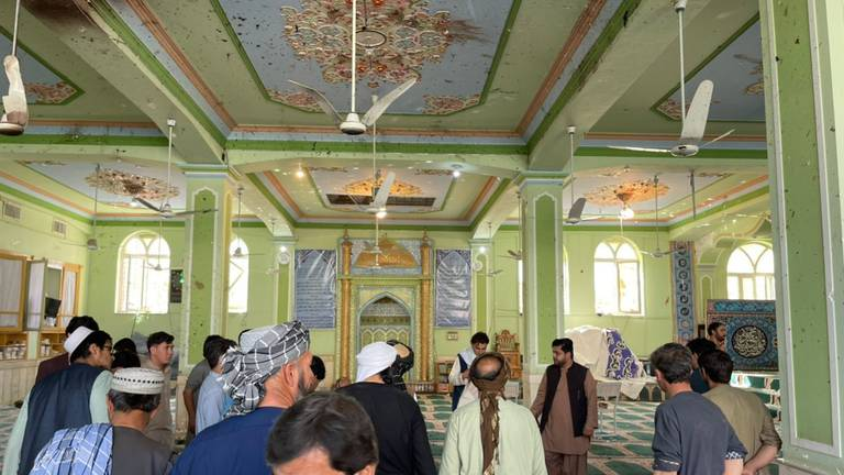 An image that illustrates this article Blast at mosque in Afghan city of Kandahar – in pictures