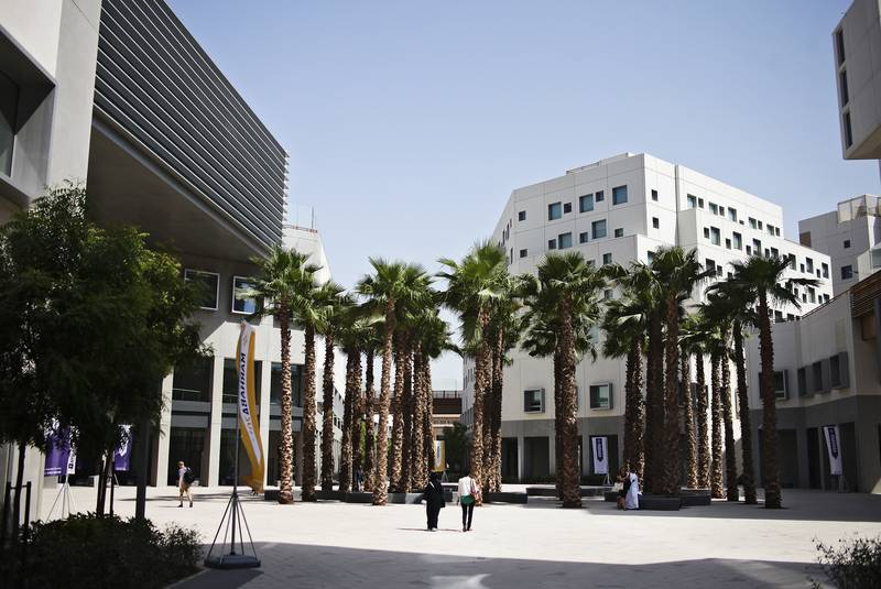 Abu Dhabi, UAE, September 1 2014:   NYU Abu Dhabi opened its doors for the first day of the school year. This was also the first day of classes at their new campus on Saadiyat Island.   People pass through the campus center.   Lee Hoagland/The National