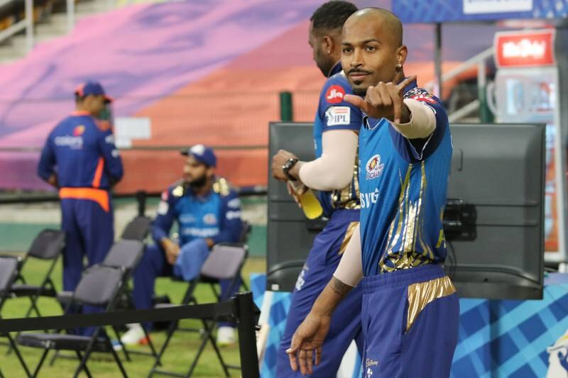 Hardik Pandya of Mumbai Indians during match 48 of season 13 of the Dream 11 Indian Premier League (IPL) between the Mumbai Indians and the Royal Challengers Bangalore at the Sheikh Zayed Stadium, Abu Dhabi  in the United Arab Emirates on the 28th October 2020.  Photo by: Rahul Goyal  / Sportzpics for BCCI