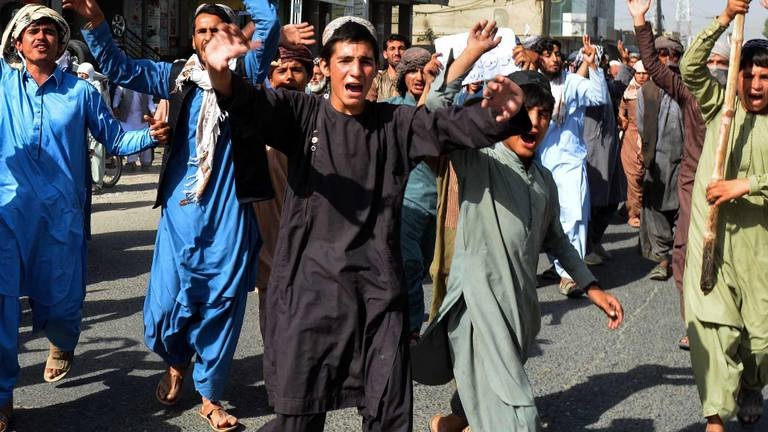 An image that illustrates this article Anti-Taliban protests spring up in Kandahar