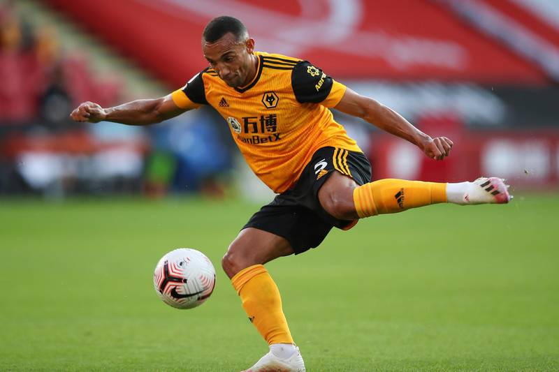 SHEFFIELD, ENGLAND - SEPTEMBER 14: Fernando Marcal of Wolverhampton Wanderers during the Premier League match between Sheffield United and Wolverhampton Wanderers at Bramall Lane on September 14, 2020 in Sheffield, United Kingdom. (Photo by Robbie Jay Barratt - AMA/Getty Images)