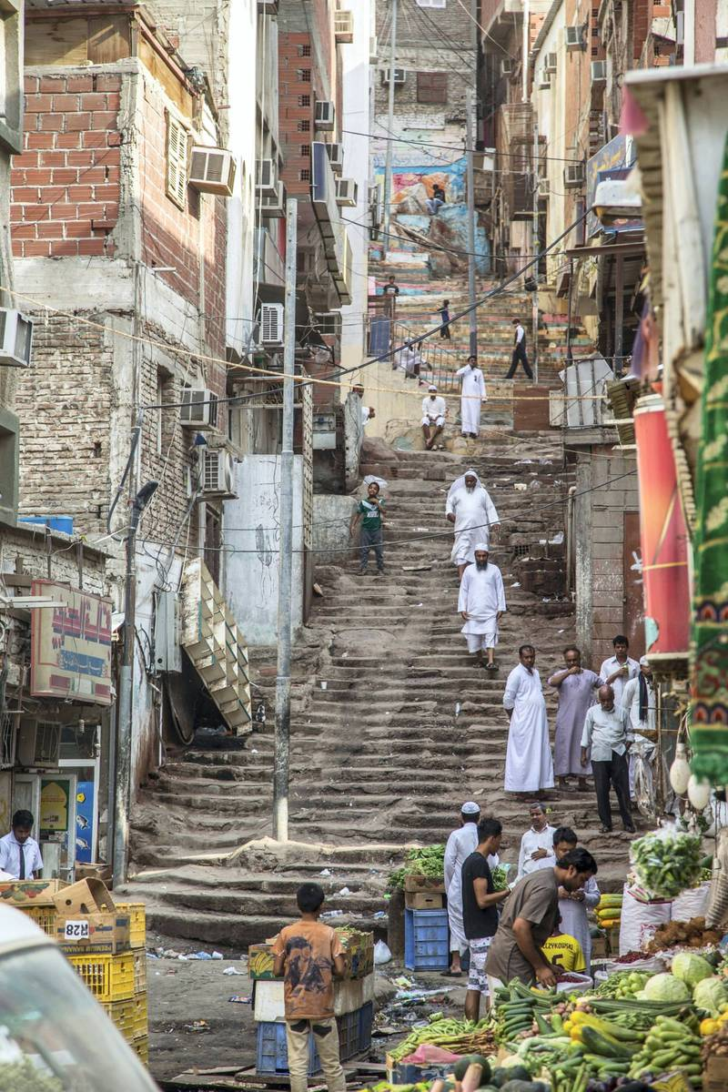Ahmed Mater (Saudi, born 1979). Neighborhood-Stairway, 2015. C-print, 106 x 71 in. (269.3 x 180.3 cm).  Courtesy of the artist. © Ahmed Mater