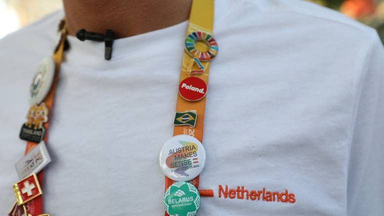 An image that illustrates this article Superfan on a mission to collect rare Expo pavilion pin badges