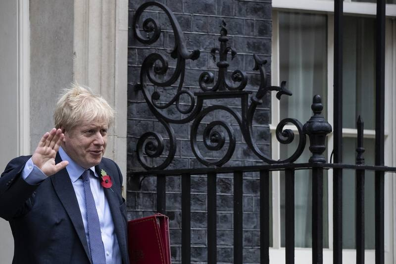 LONDON, ENGLAND - OCTOBER 30: Prime Minister Boris Johnson leaves 10 Downing Street for Prime Minister's Questions on October 30, 2019 in London, England. Last night, MPs voted 438 to 20 votes in favour of holding a General Election on Thursday 12th December 2019. (Photo by Dan Kitwood/Getty Images)
