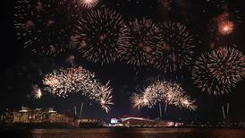 Eid Al Adha celebratory fireworks - in pictures