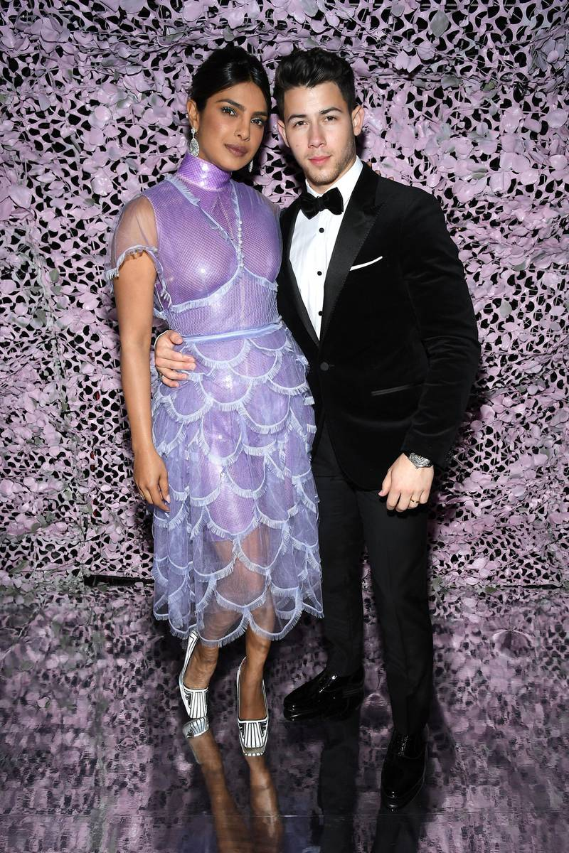 CANNES, FRANCE - MAY 17: Nick Jonas (R) and Priyanka Chopra attend the Chopard Love Night dinner on May 17, 2019 in Cannes, France. (Photo by Pascal Le Segretain/Getty Images for Chopard)