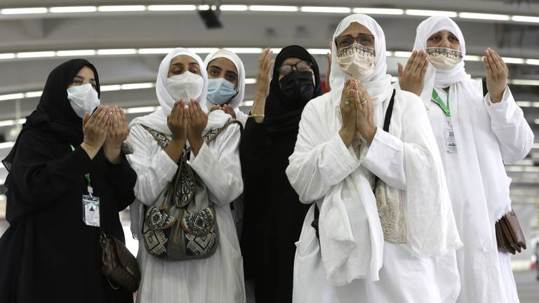 An image that illustrates this article Hajj diaries: 'We didn't dress in jewels, we dressed in joy'