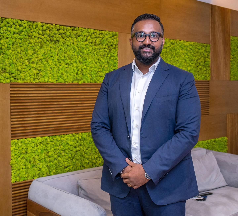 Abu Dhabi, United Arab Emirates, January 5, 2021.  Interview with Ashish Koshy, CEO - G42 Healthcare.Victor Besa/The NationalSection:  NAJournalist:  Shireena Al Nowais
