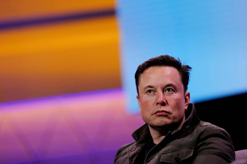 FILE PHOTO: SpaceX owner and Tesla CEO Elon Musk speaks during a conversation with legendary game designer Todd Howard (not pictured) at the E3 gaming convention in Los Angeles, California, U.S., June 13, 2019.  REUTERS/Mike Blake/File Photo