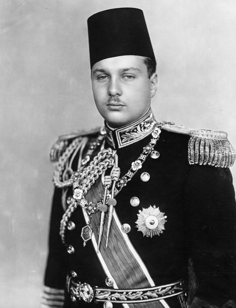 circa 1939:  King Farouk I of Egypt (1920 - 1965).  (Photo by Central Press/Getty Images)