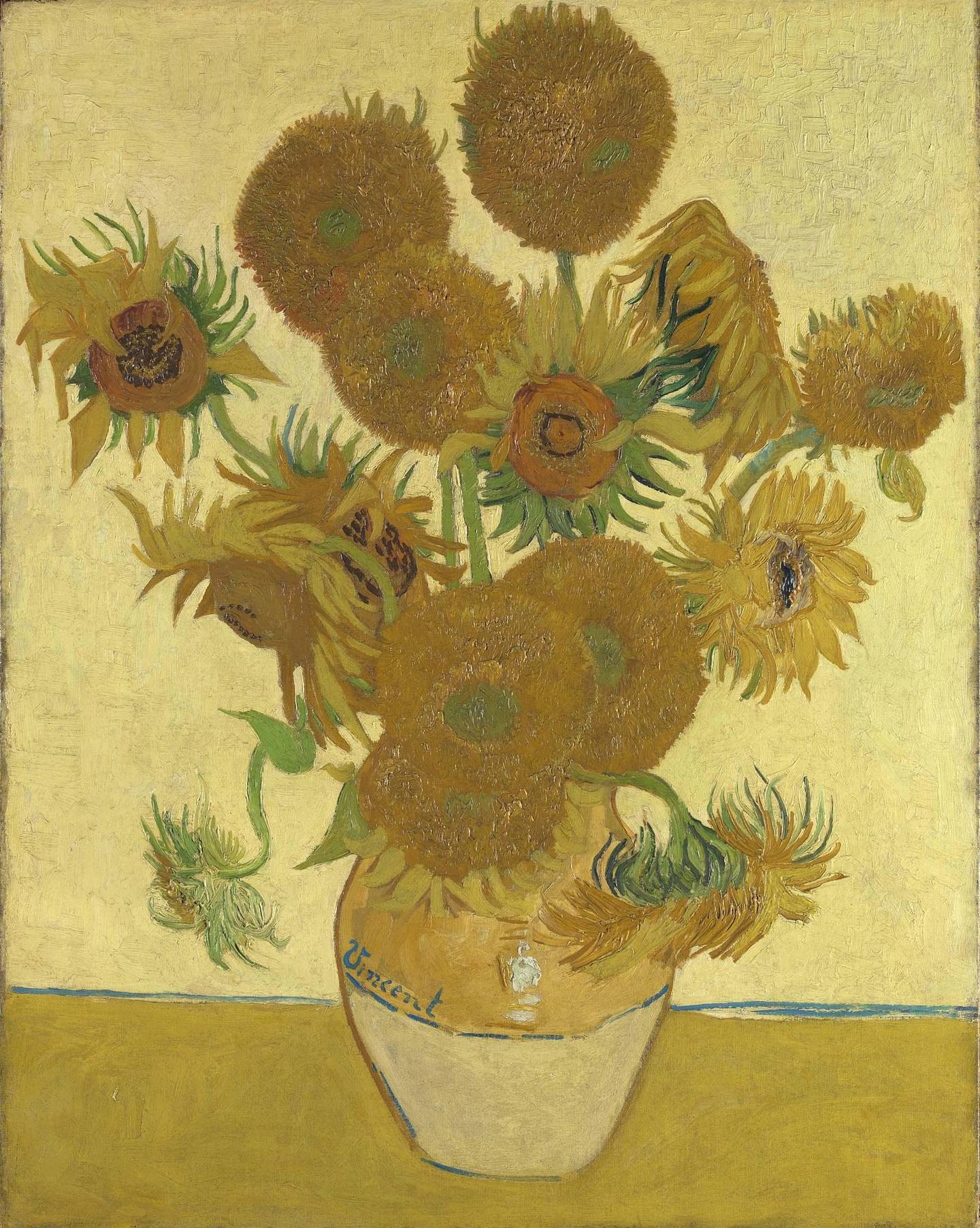 Vincent van Gogh (1853 – 1890) Sunflowers 1888 Oil paint on canvas 921 x 730 mm © The National Gallery, London/ Bought, Courtauld Fund, 1924
