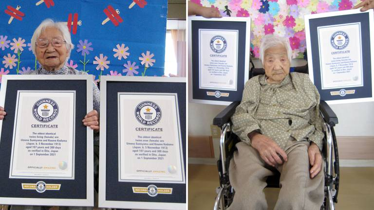 An image that illustrates this article World's oldest living twins aged 107 certified by Guinness World Records