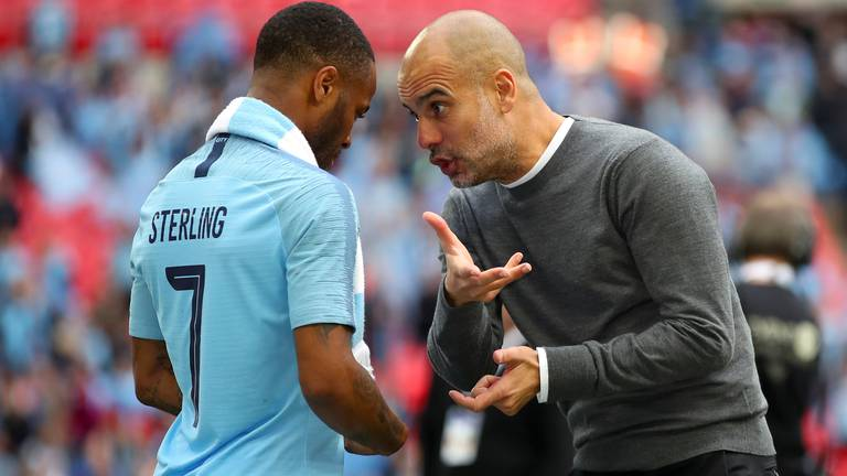An image that illustrates this article Pep Guardiola surprised by Raheem Sterling want-away comments