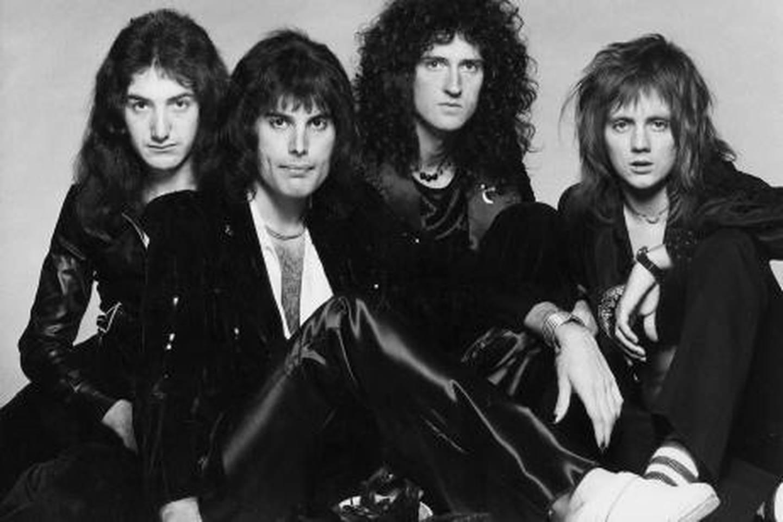 British rock-pop group, QUEEN (l-r) John Deacon, Freddie Mercury, Brian May, Roger Talyor.