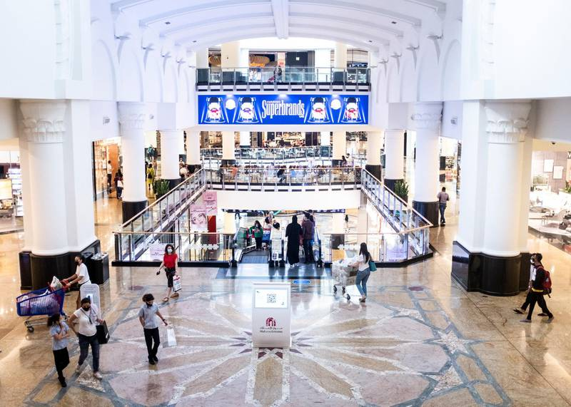 DUBAI, UNITED ARAB EMIRATES. 13 SEPTEMBER 2020. People at Mall of the Emirates.(Photo: Reem Mohammed/The National)Reporter:Section: