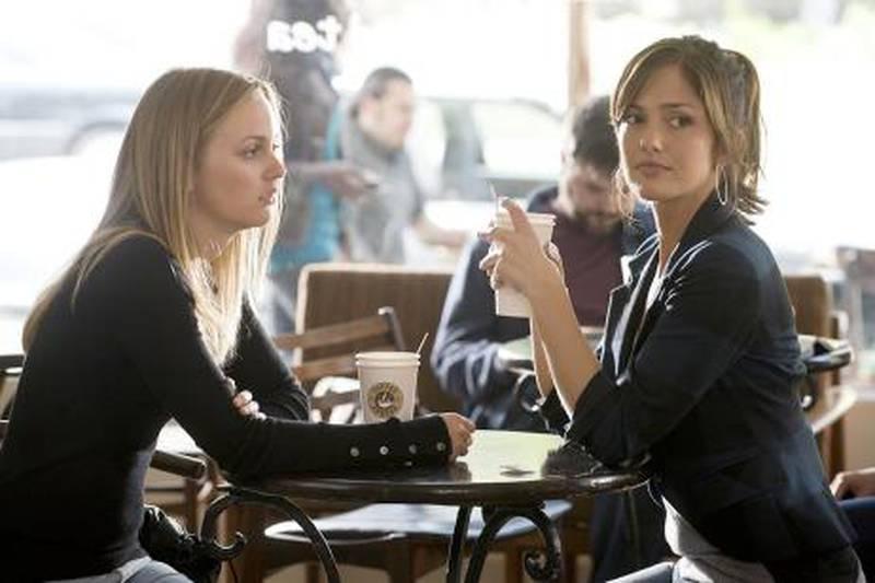 Leighton Meester (left) and Minka Kelly star in Screen Gems' thriller THE ROOMMATE.