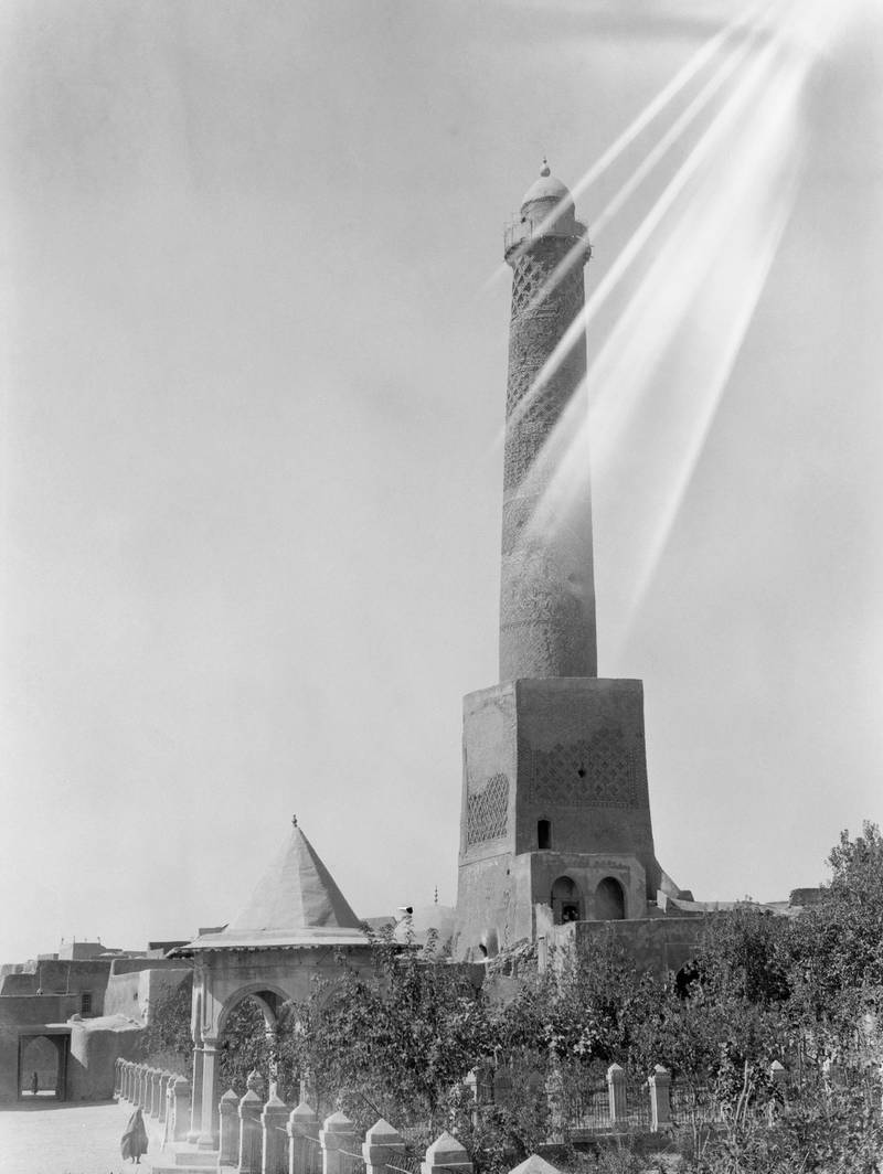 Mandatory Credit: Photo by Granger/Shutterstock (8700087a) Iraq: Minaret, C1932. Minaret At A Mosque In Mosul, Iraq. Photograph, C1932. Iraq: Minaret, C1932.
