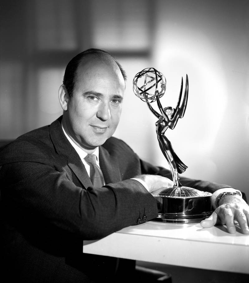 LOS ANGELES - MAY 25: Carl Reiner, creator- writer for The Dick Van Dyke Show. Image dated May 25, 1962. Hollywood, CA.  (Photo by CBS via Getty Images)