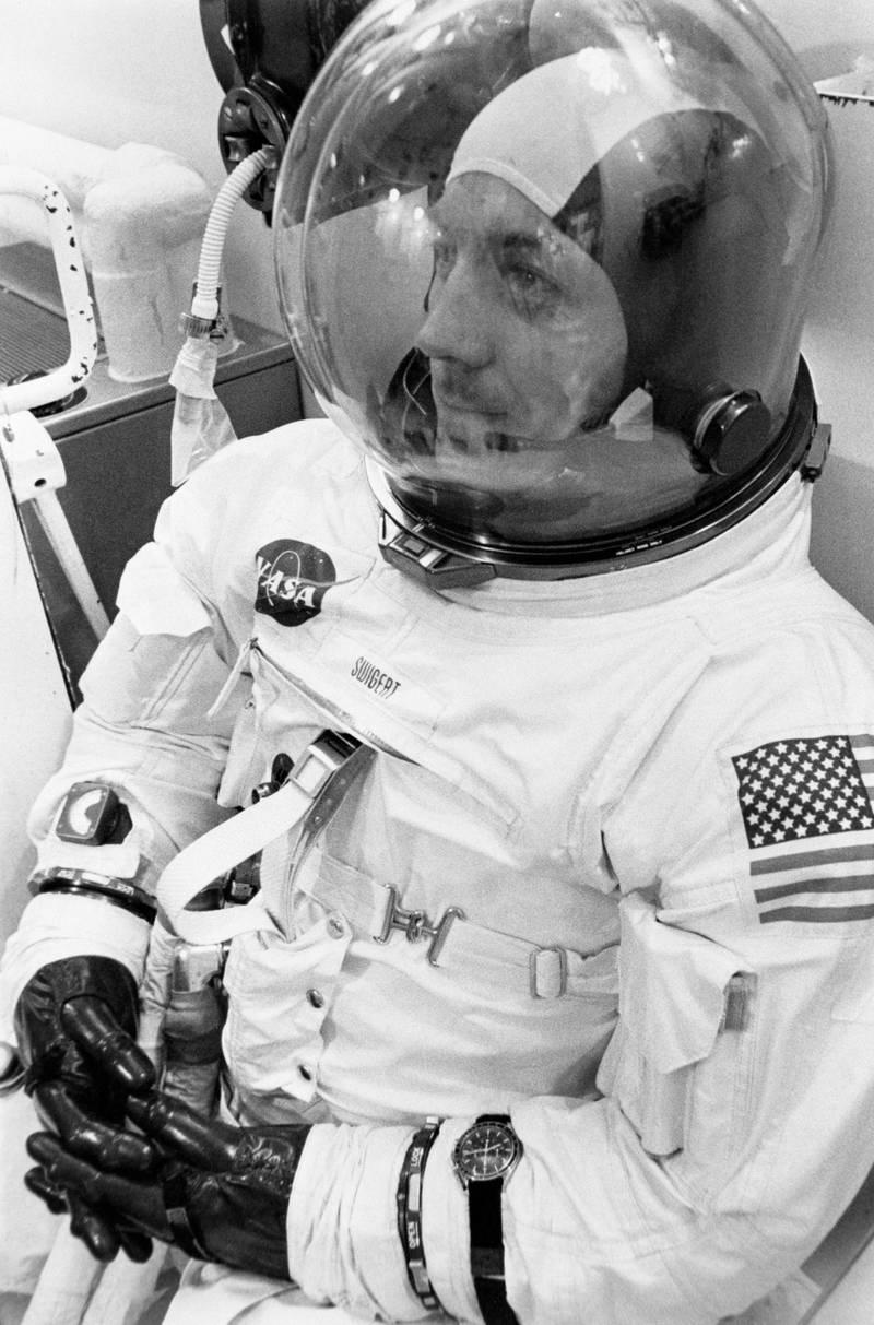 Mandatory Credit: Photo by Granger/Shutterstock (8700509a)Jack Swigert (1931-1982). John 'Jack' Swigert Jr. American Astronaut. Photographed During The During The Apollo 13 Prelaunch Countdown, 11 April 1970.Jack Swigert (1931-1982)