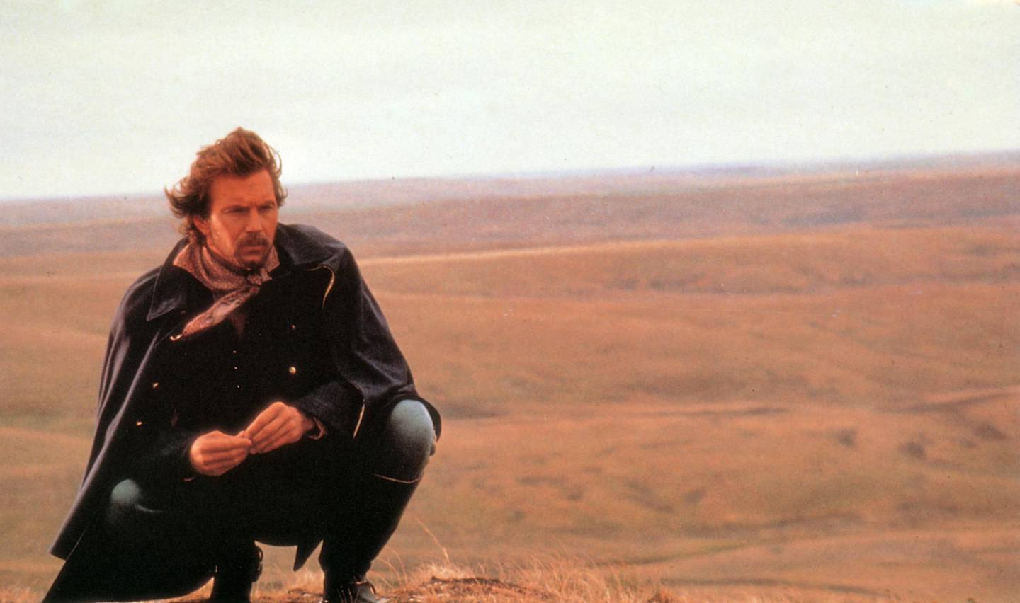 Kevin Costner in Dances With Wolves. Courtesy Orion Pictures