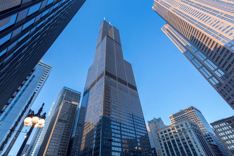 CHICAGO, IL - FEBRUARY 26: View of Willis Tower on February 26, 2018 in Chicago, Illinois.   Jeff Schear/Getty Images for Equity Office/AFP (Photo by Jeff Schear / GETTY IMAGES NORTH AMERICA / Getty Images via AFP)