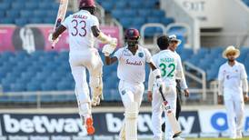 West Indies rejoice after clinching one-wicket win against Pakistan in Jamaica Test