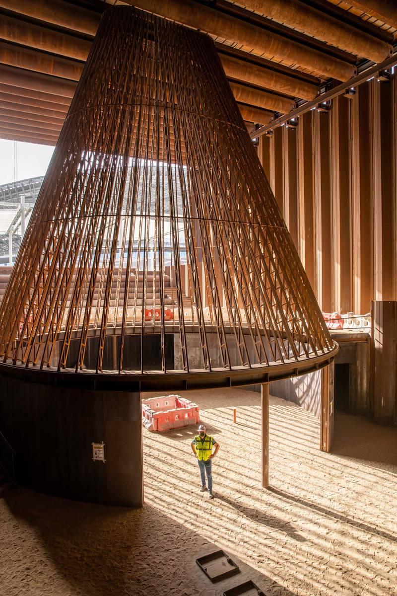 FOR RAMOLA'S STORY ON NETHERLANDS EXPO PAVILION. Construction of The Netherlands pavilion. Courtesy: Faisal Khatib