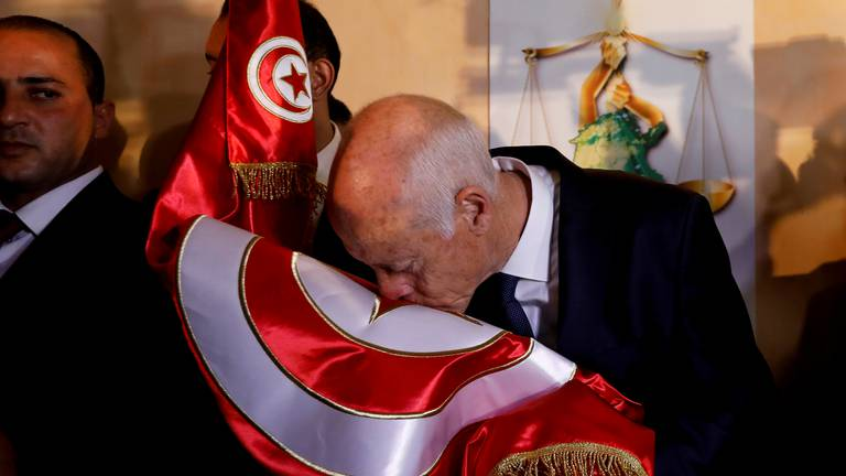 An image that illustrates this article Tunisia on edge as deadline to end presidential control nears