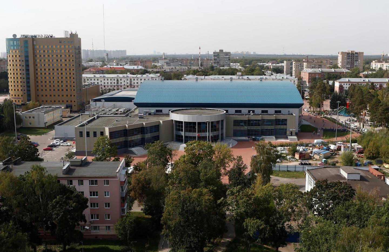Ice Hockey - Kontinental Hockey League - Avangard Omsk Training - Arena Balashikha, Moscow Region, Russia - September 8, 2018 - General view of Arena Balashikha. Picture taken September 8, 2018. REUTERS/Sergei Karpukhin