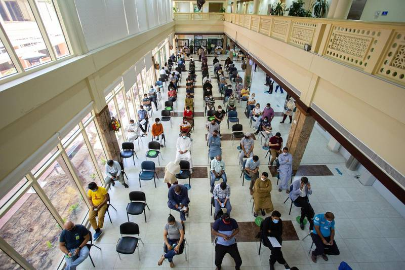 Huge turnout for Covid-19 vaccine drive across Dubai Health Authority's vaccination centers. Dubai Media Office