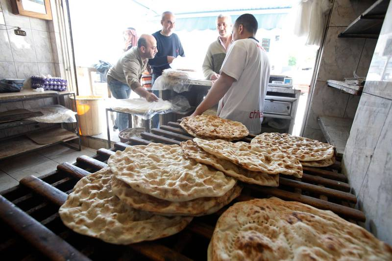 Traditional bread is made at an old fashion bakery in Amman, Jordan on May 01, 2010. (Salah Malkawi for The National)