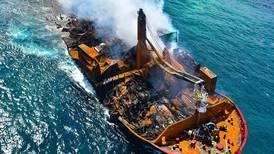 Sri Lanka ship sinking: authorities brace for worst-case scenario oil slick